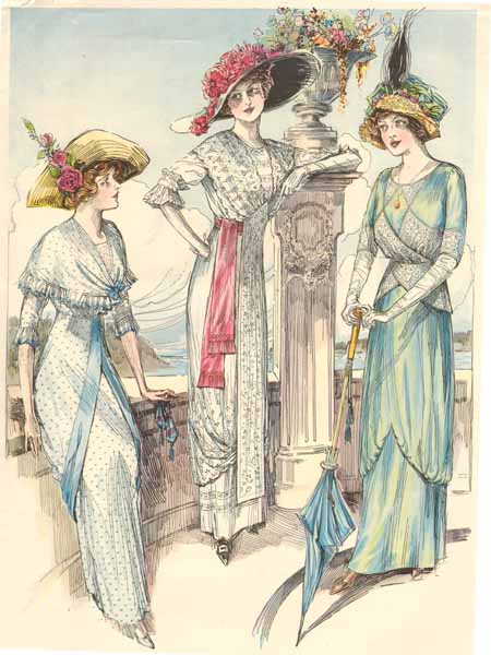 1910 daywear ladies